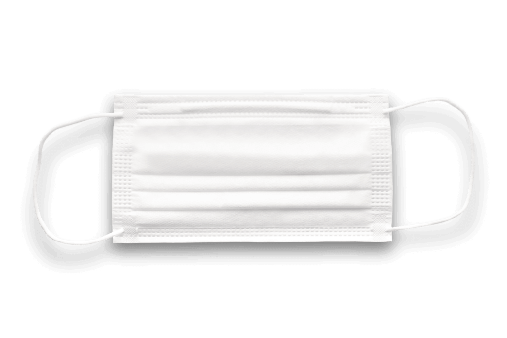 Surgical mask or medical mask type II and type I, white color